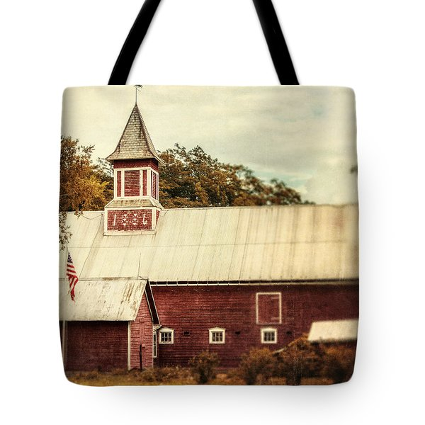 Americana Barn Tote Bag by Lisa Russo