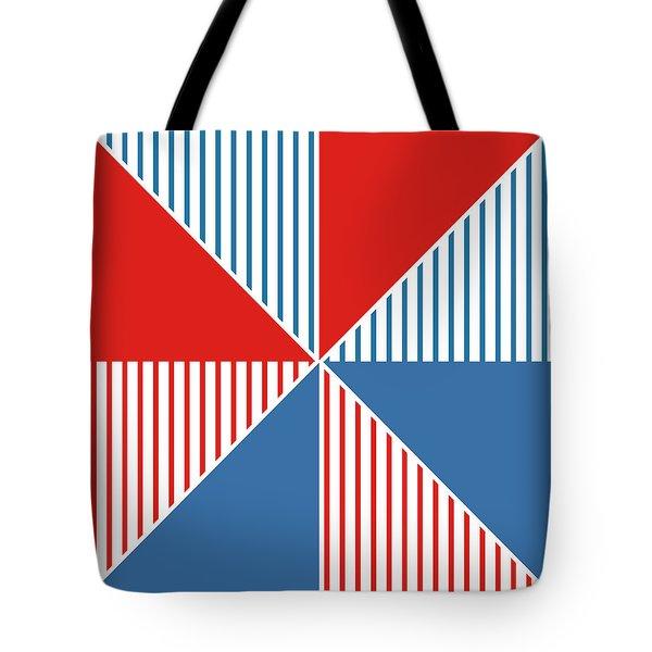Americana Pinwheel Tote Bag