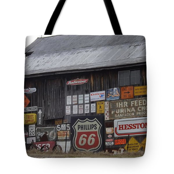 Americana Signs Tote Bag