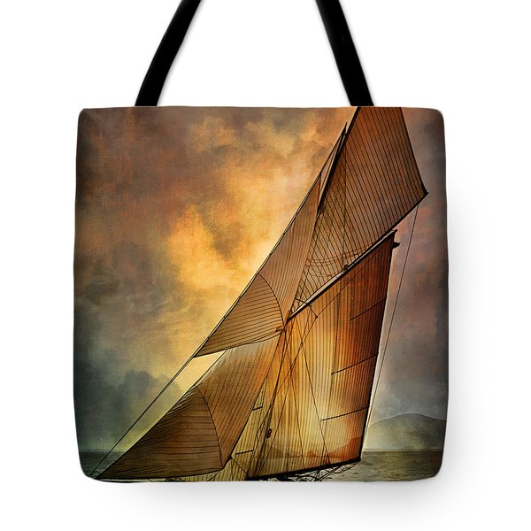 Tote Bag featuring the digital art America's Cup 1 by Andrzej Szczerski
