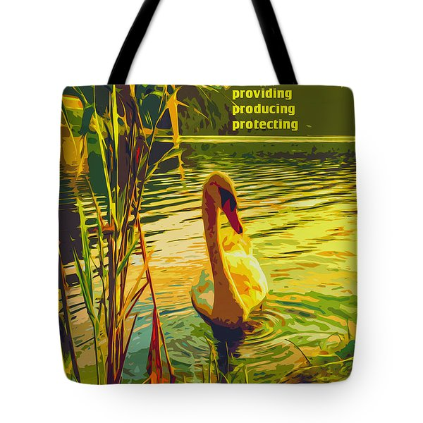 America's Wetlands Tote Bag by Chuck Mountain