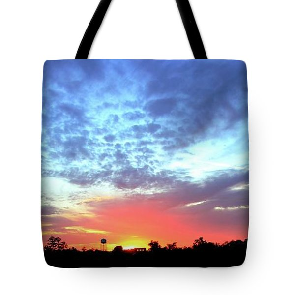 City On A Hill - Americus, Ga Sunset Tote Bag