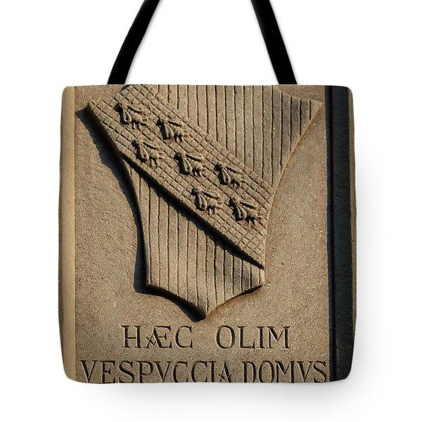 Amerigo Vespucci Lived Here Tote Bag