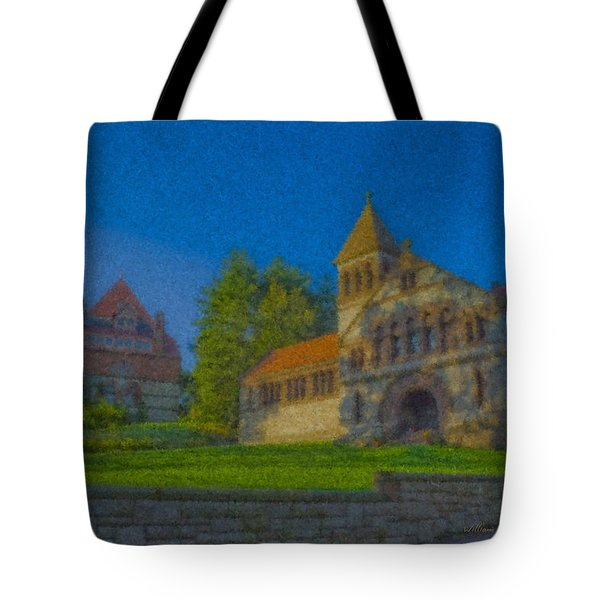 Ames Hall And Ames Free Library Tote Bag