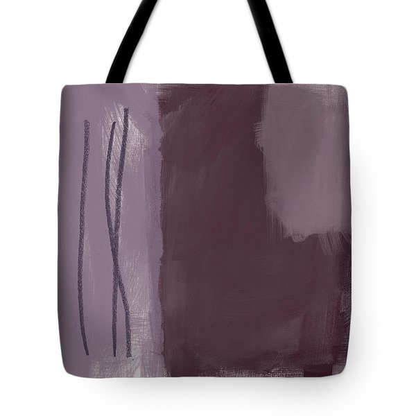Amethyst 3- Abstract Art By Linda Woods Tote Bag