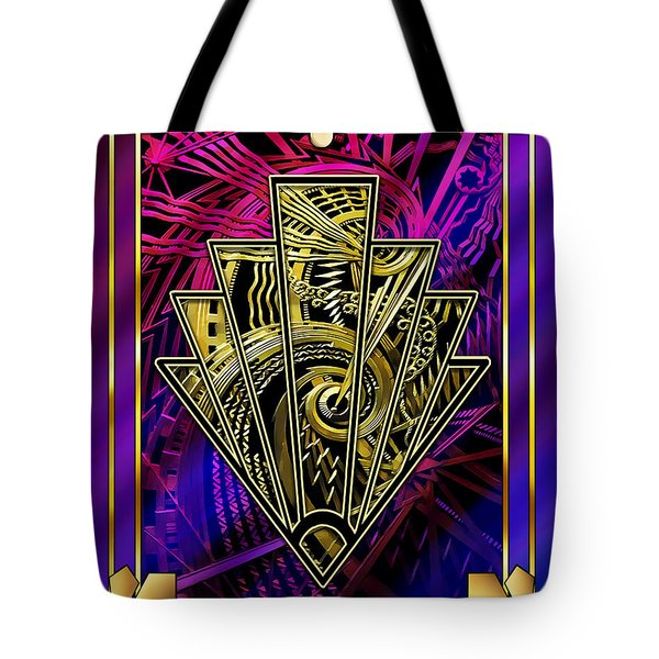 Tote Bag featuring the digital art Amethyst And Gold by Chuck Staley
