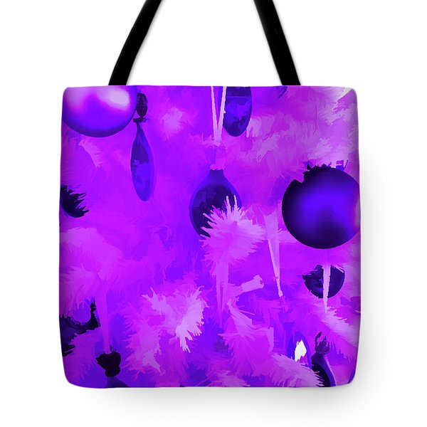 Tote Bag featuring the photograph Amethyst Christmas Tree Ornaments by Aimee L Maher Photography and Art Visit ALMGallerydotcom