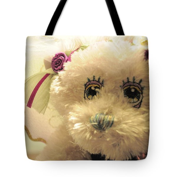 Amethyst Fairy Bear Tote Bag