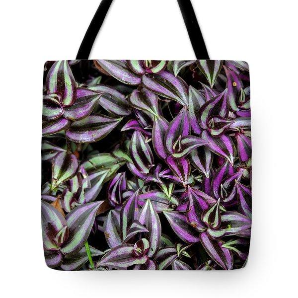 Amethyst Flora Tote Bag