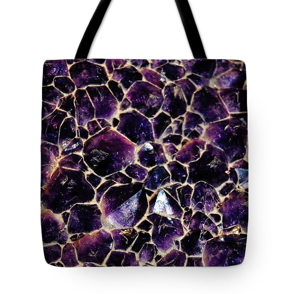 Amethyst Quartz Crystal Smithsonian Tote Bag