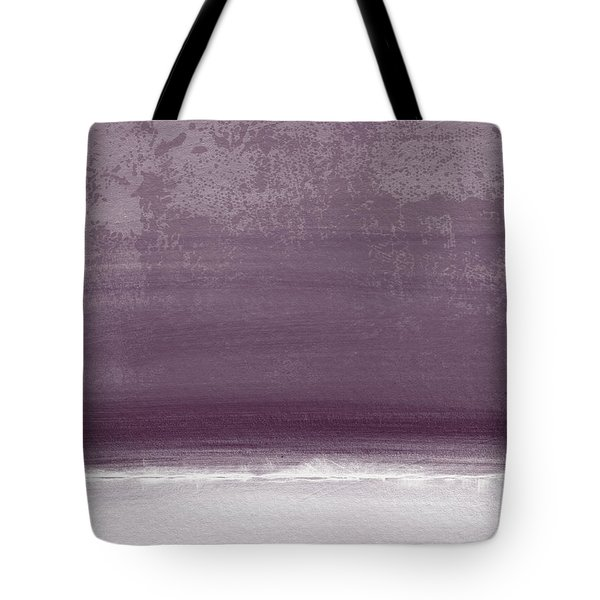 Amethyst Shoreline- Abstract Art By Linda Woods Tote Bag by Linda Woods