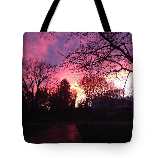 Amethyst Sunset Tote Bag