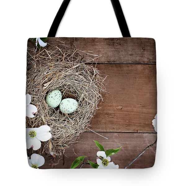 Tote Bag featuring the photograph Amid The Dogwood Blossoms by Stephanie Frey