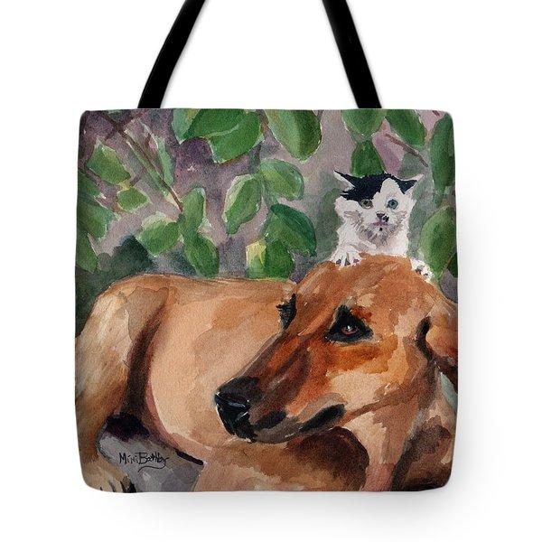 Amira And Junior Tote Bag