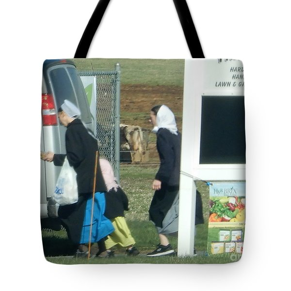 Amish Auction Tote Bag