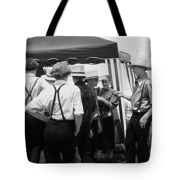 Amish Auction Day Tote Bag by Eric  Schiabor