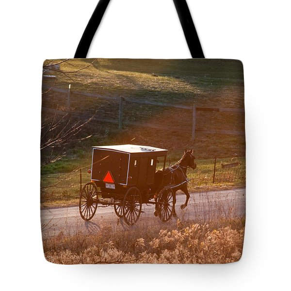 Amish Buggy Afternoon Sun Tote Bag