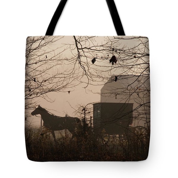 Amish Buggy Fall Tote Bag
