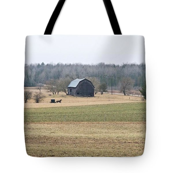 Tote Bag featuring the photograph Amish Country 0754 by Michael Peychich
