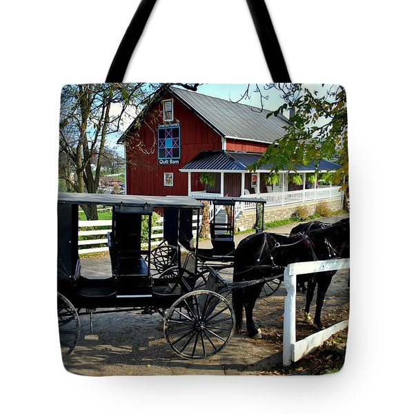 Amish Country Horse And Buggy Tote Bag