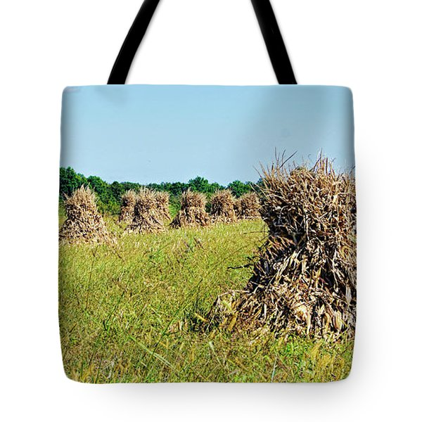Tote Bag featuring the photograph Amish Harvest by Cricket Hackmann