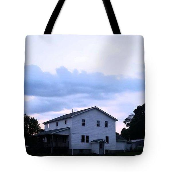 Amish House At  Sunset Tote Bag