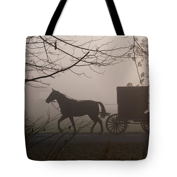 Amish Morning 1 Tote Bag