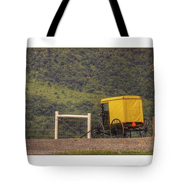 Amish School Bus Tote Bag