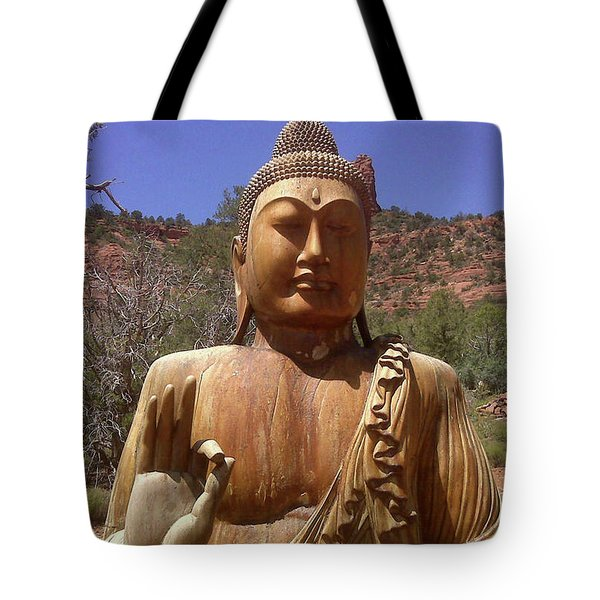 Tote Bag featuring the photograph Amitabha by Beth  Cornell