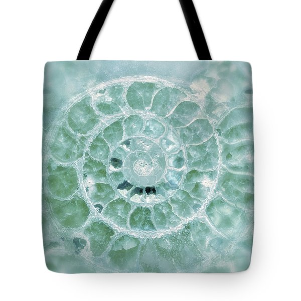 Ammonite Emerald Green Tote Bag