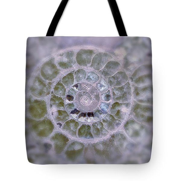Ammonite Lavender And Blue Tote Bag