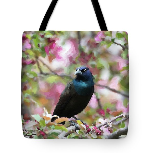 Tote Bag featuring the digital art Among The Blooms by Betty LaRue