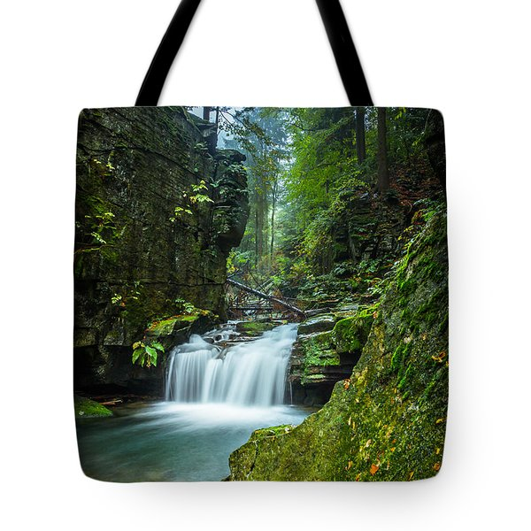 Among The Green Rocks Tote Bag