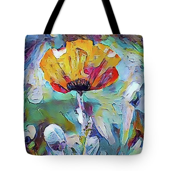 Among The Poppies II Tote Bag