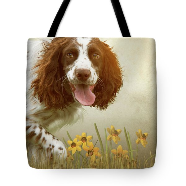 Amongst The Flowers Tote Bag