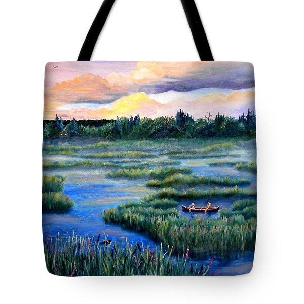 Amongst The Reeds Tote Bag by Renate Nadi Wesley