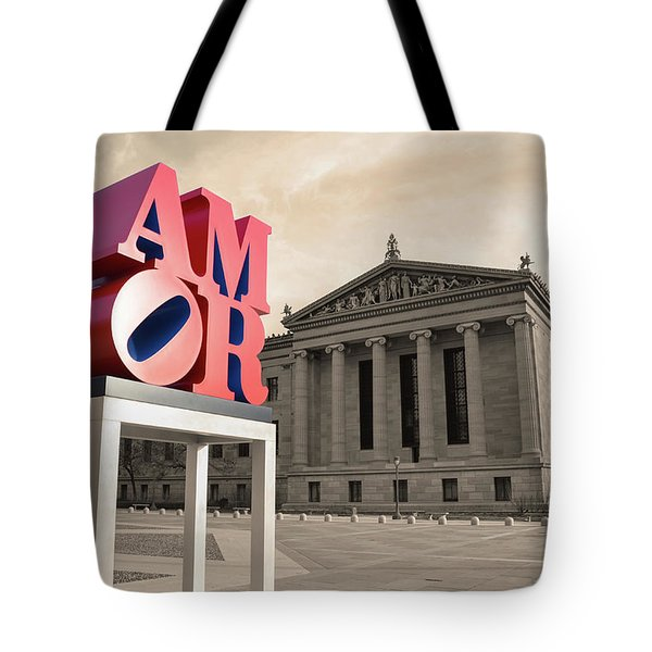 Tote Bag featuring the photograph Amor - Love by Bill Cannon