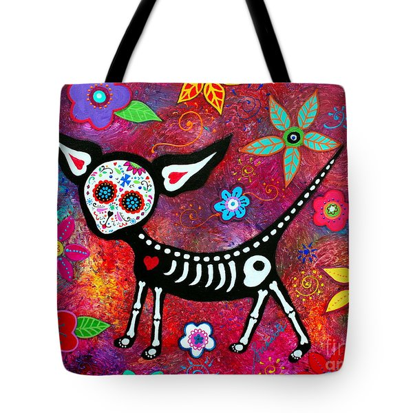 Tote Bag featuring the painting Amor Pelado by Pristine Cartera Turkus