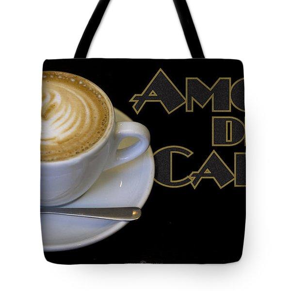 Amore Del Caffe Poster Tote Bag