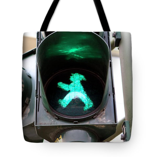 Tote Bag featuring the photograph Ampelmannchen by John Rizzuto