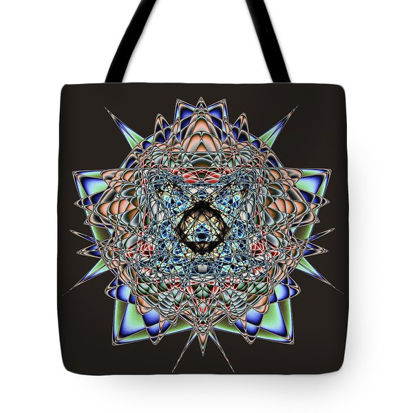 Tote Bag featuring the digital art Amphlegman by Andrew Kotlinski