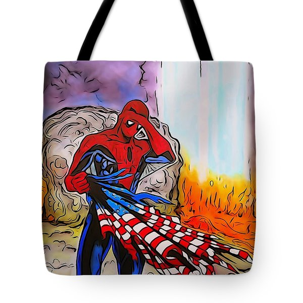 Ams 9/11 Tribute Watercolor Edition Tote Bag