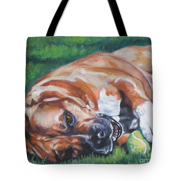 Amstaff With Ball Tote Bag