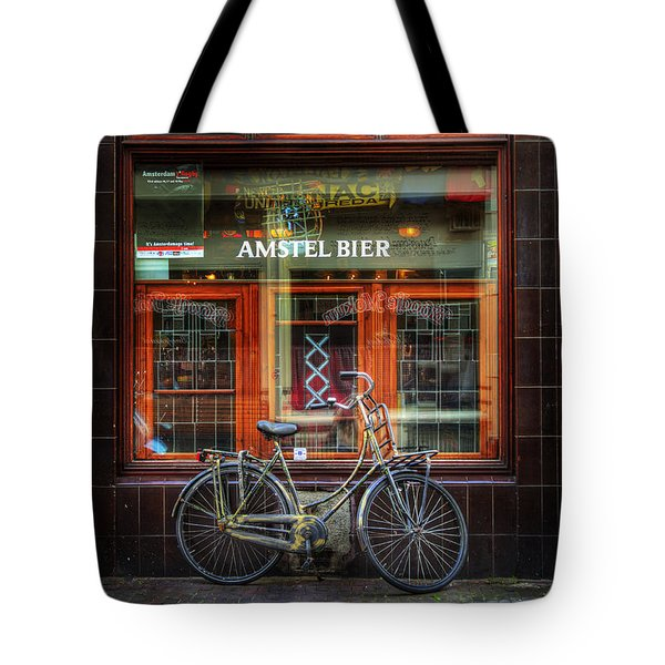 Amstel Bier Bicycle Tote Bag by Craig J Satterlee
