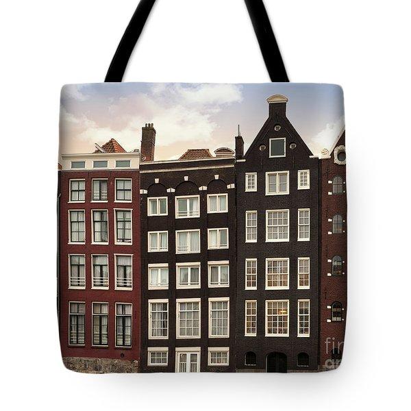 Amsterdam Architectre At Twilight Tote Bag