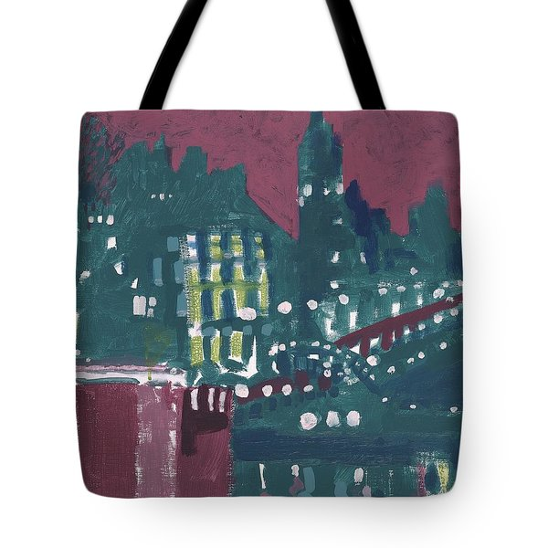 Amsterdam At 4am Tote Bag by Jerry W McDaniel