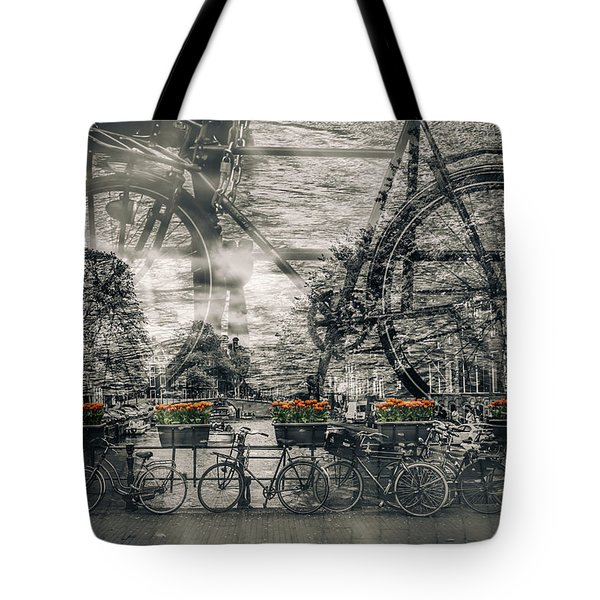 Amsterdam Bicycle Nostalgia Tote Bag