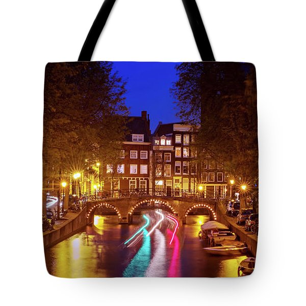 Amsterdam By Night Tote Bag