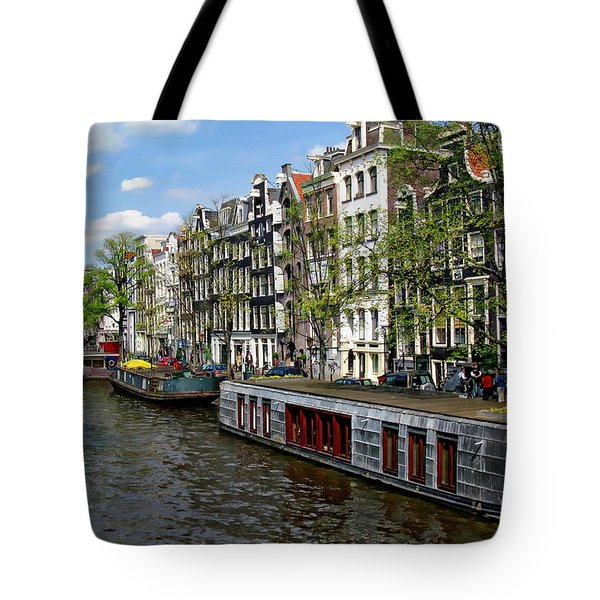 Amsterdam Canal Tote Bag by Anthony Dezenzio