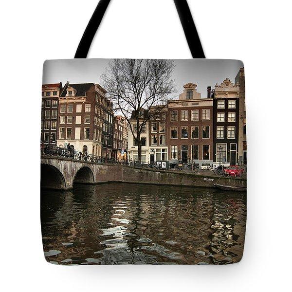Amsterdam Canal Bridge Tote Bag